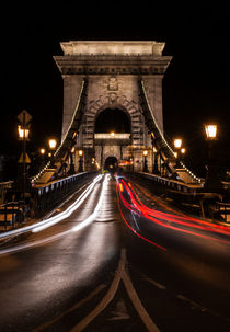 Chain bridge at night von Jarek Blaminsky