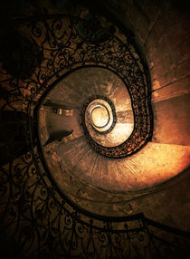 Old forgotten spiral staircase by Jarek Blaminsky