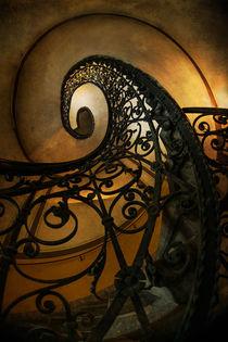 Spiral staircase in brown and green tones by Jarek Blaminsky