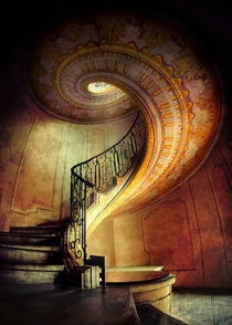 Decorated spiral staircase von Jarek Blaminsky