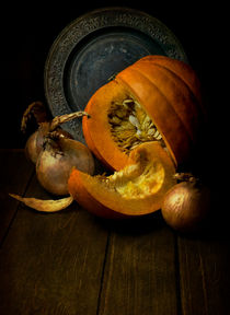 Still life with pumpkin by Jarek Blaminsky