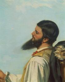 La Rencontre ou Bonjour M.Courbet von Gustave Courbet
