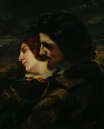 The Lovers in the Countryside by Gustave Courbet