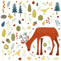 Deer and Forest Things by Nic Squirrell
