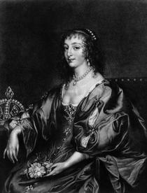 Henrietta Maria  by Sir Anthony van Dyck