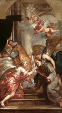 The Communion of St. Bonaventure  von Sir Anthony van Dyck