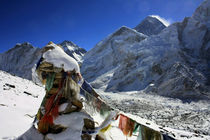 Gebetsfahne am Mount Everest by Gerhard Albicker