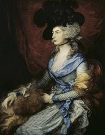 Mrs Sarah Siddons, the actress  von Thomas Gainsborough
