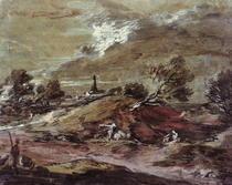 Landscape: Storm Effect  by Thomas Gainsborough