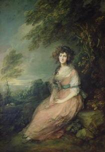 Mrs. Richard Brinsley Sheridan by Thomas Gainsborough