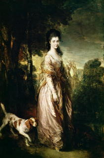 Portrait of Mrs. Lowndes-Stone  by Thomas Gainsborough