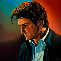 Sean Penn painting by Paul Meijering