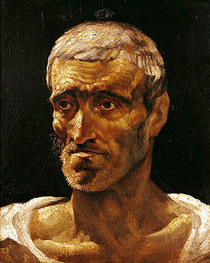 Head of a Shipwrecked Man, study for the Raft of Medusa von Theodore Gericault