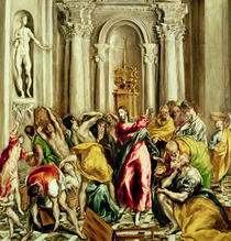 Jesus Driving the Merchants from the Temple by El Greco