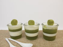 Smoothfood - Gelierter grüner Smoothie mit Matcha und Joghurt von Heike Rau