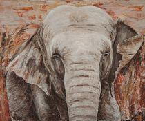 Elefantenportrait von atelierwolf