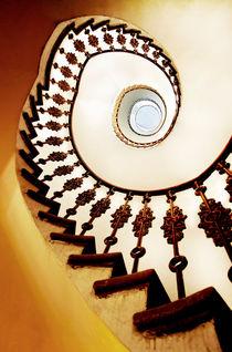 Spiral staircase in warm colours by Jarek Blaminsky