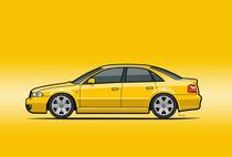 Illu-audi-b4-s4-yellow-poster