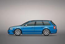 Audi RS4 A4 Avant Quattro B5 Type 8d Wagon Nogaro Blue von monkeycrisisonmars