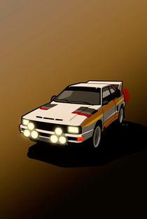 Audi Sport Quattro Ur-Quattro Rally Poster von monkeycrisisonmars
