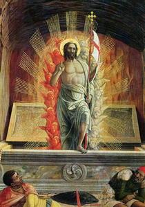 The Resurrection, right hand predella panel from the Altarpiece  von Andrea Mantegna
