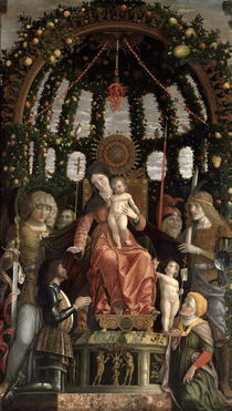 The Virgin of Victory or The Madonna and Child Enthroned with Si by Andrea Mantegna
