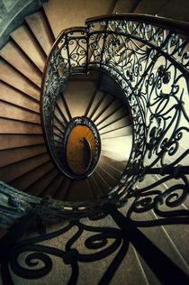 Elegant metal spiral staircase by Jarek Blaminsky