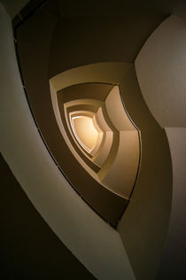 Modern staircase in brown and golden tones von Jarek Blaminsky