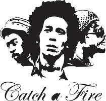Bob Marley - Catch a Fire von Sagar Vasoya