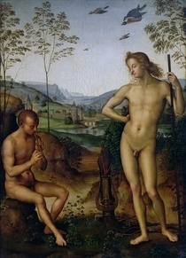 Apollo and Marsyas by Pietro Perugino