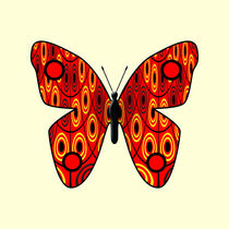 Red butterfly by Gaspar Avila