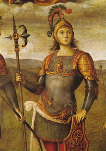 Horatius Cocles, from the Sala dell`Udienza von Pietro Perugino