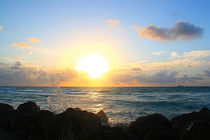 Sunrise on the beach of Miami, Florida by mellieha