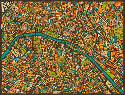 Paris-street-map