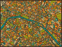 PARIS STREET MAP von Jazzberry  Blue