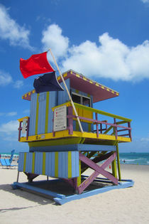 Art Deco Lifeguard - am Strand von Miami Beach by mellieha