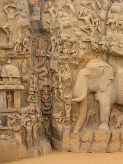 Indien-felsrelief-mahabalipuram