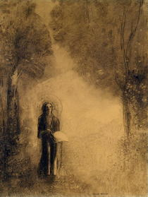 The Walker, Study for `The walking Buddha`) von Odilon Redon