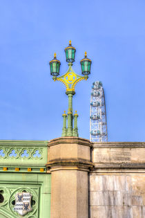 The London Eye And Westminster Bridge by David Pyatt