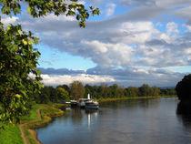 Dampferfahrt auf der Elbe bei Dresden, Sachsen. von mellieha
