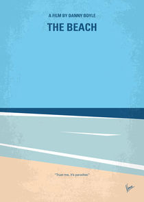 No569 My The Beach minimal movie poster by chungkong