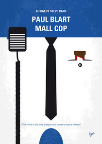 No579 My Paul Blart Mall Cop minimal movie poster von chungkong