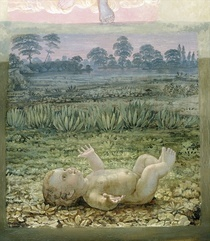 A section from the second version of `The Morning` by Philipp Otto Runge
