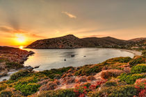 Sunset at Fellos in Andros island, Greece by Constantinos Iliopoulos