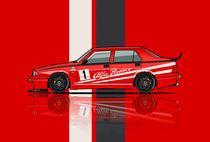 Alfa Romeo 75 Tipo 161 Works Corse Competizione Rosso Stripes von monkeycrisisonmars