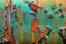 Flaking Paint on Rust by David Hare