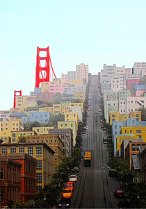 San Francisco und Golden Gate Brigde by mellieha