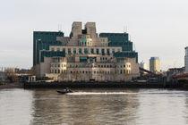 SIS Secret Service Building London And Rib Boat by David Pyatt