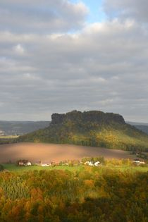 Blick von der Festung Königstein by Ute Bauduin
