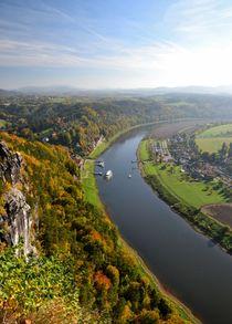Blick auf die Elbe by Ute Bauduin